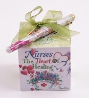 Nurses The Heart of Healing Note Cube w/ Pen