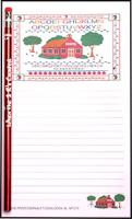 Schoolhouse - Note Pad and Pencil Set