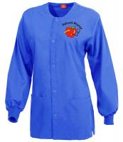 Nurses Scrub Jacket in Royal Blue