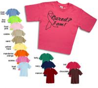 Cured? I Am.™ T-Shirt. A portion of all proceeds goes to cancer charities.