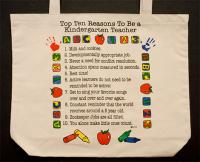 Kindergaten Teacher Top 10 Totebag