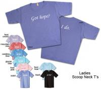Wear a Got Hope? I Do.™ Scoop Neck T-Shirt.A portion of all proceeds goes to cancer charities.