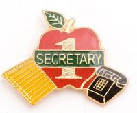#1 Secretary Lapel Pin