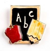 Porcelain ABC Slate Pin
