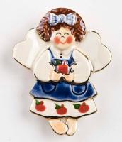 Porcelain  Angel Teacher Pin