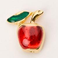 Red Apple Lapel Pin