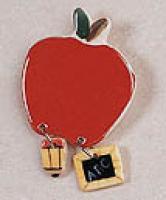 Ceramic Pin - Apple