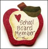 School Board Apple Pin