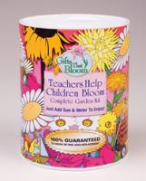 Teachers Help Children Bloom Garden Can