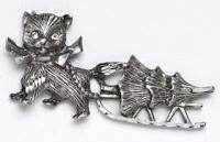 Reindeer and Diamond Collar Pin