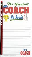 Coach Note Pad Set - Note Pad and Pencil Set