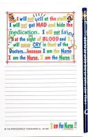 I Am the Nurse - Note Pad and Pencil Set