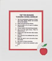 Top Ten Reasons to Become a School Counselor Mat