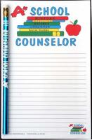 A+ School Counselor - Note Pad and Pencil Set