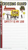 Crossing Guard Notepad Set - Note Pad and Pencil Set