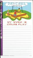 Day Care Worker Notepad Set - Note Pad and Pencil Set