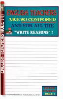 English Teacher - Note Pad and Pencil Set
