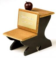 Personalized Old Fashioned Desk and engraved brass plate