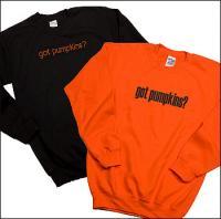 Got Pumpkins?Black w/Crystals L.Sleeve Sweatshirt