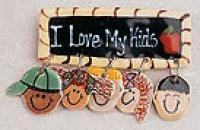 Ceramic Pin - I love my kids