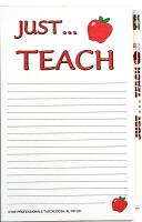Just Teach - Note Pad and Pencil Set