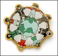 Globe Lapel Lapel Pin