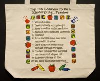 Kindergarten Teacher  Top 10 Totebag