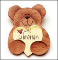 Librarian Bear Pin
