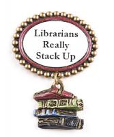 Librarian tack lapel pin.