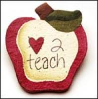 Love To Teach Apple Pin