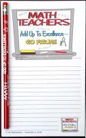 Math Teachers Add Up to Excellance... - Note Pad and Pencil Set