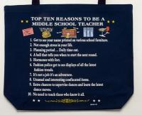 Middle School Teacher Top 10 Totebag