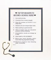 Top Ten Reasons to Become a School Nurse Mat
