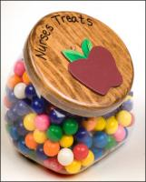 Plastic Treat Jar with Personalized Wooden Top