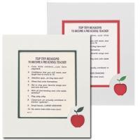 Top Ten Reasons to Become a Pre-School Teacher Mat
