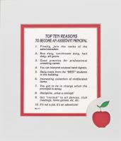 Top Ten Reasons to Become an Assistant Principal Mat