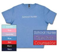 School Nurse Crystal Scoop Neck  T-shirt