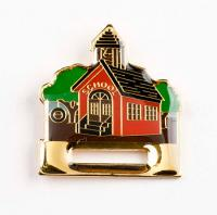 Schoolhouse Badge Holder  Lapel Pin