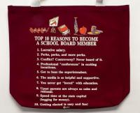 School Board Member Top 10 Totebag