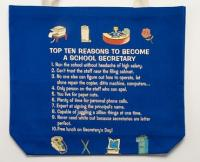 School Secretary Top 10 Totebag