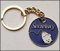 Secretary & computer mouse  Key Chain