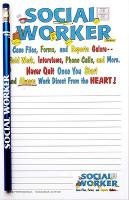 Social Worker Note Pad - Note Pad and Pencil Set