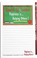 Special Education Teacher - Note Pad and Pencil Set