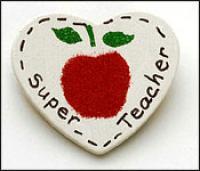Super Secretary Heart Pin