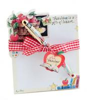 Teacher Die Cut Note Pad & Pen