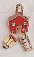Schoolhouse Ceramic Pin