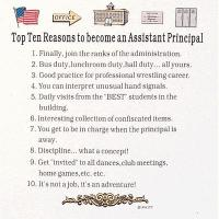 Top Ten Reasons To Become an Assistant Principal Sweatshirt