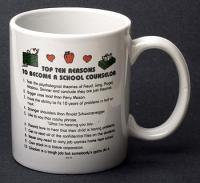 School Counselor Top Ten  Reasons Mug