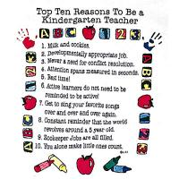 Top Ten Reasons To Become a Kindergarten Teacher Sweatshirt