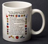 Kindergarten Teacher Top 10 Reasons Mug
